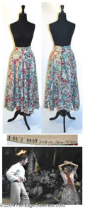Autographs, Jean Peters Floral Skirt Worn in Captain from Castile (1947)