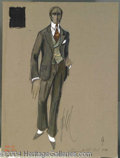 Autographs, Cincinnati Kid Costume Sketch of Suit