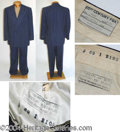 Autographs, William Powell Wool Suit Worn in Dancing In The Dark (1949)