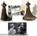 Autographs, Madeline Carroll Beautiful Lace Gown Worn in The Fan (1949)