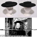 Autographs, Gene Tierney Velvet Hat Worn in The Ghost And Mrs. Muir (1947)