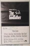 Autographs, Original 1972 Godfather Poster Signed by Coppola