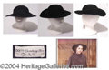 Autographs, Jennifer Jones Lot of 2 Hats Worn in Good Morning Miss Dove (1955)
