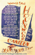 Autographs, Hollywood Canteen 1944 Rare One Sheet