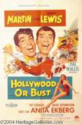 Autographs, Hollywood or Bust 1956 Original One Sheet