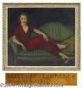 Autographs, Gertrude Lawrence Large Canvas Oil Painting