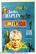 Autographs, Charlie Chaplin 1952 Original 1-Sheet for Limelight