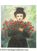 Autographs, Judy Garland Large Canvas Oil Painting
