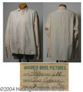 Autographs, Charles Coburn Dress Shirt Worn in Rhapsody in Blue (1945)