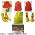 Autographs, Dolph Lundgren Boxing Shoes & Cape from Rocky IV (1985)