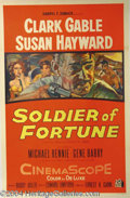 Autographs, Soldier of Fortune Original 1955 One Sheet