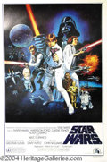 "Autographs, Star Wars 1977 Style ""C"" One Sheet Poster"