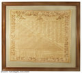 """Political, James Madison cotton bandanna from 1815. Listed in """"..."""