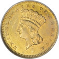 Gold Dollars, 1870-S G$1 MS63 NGC....