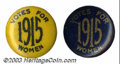Suffragette Material, Nice pair of Votes for Women buttons. These pins each ... (2 items)