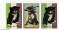 Suffragette Material, Three British Women's Suffrage postcards with a cat as the ... (3 items)