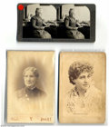 Suffragette Material, Prominent suffrage leaders in different formats. Includes ... (3 items)