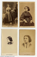 Suffragette Material, Suffrage-related cartes-de-visite. Includes three ... (4 items)