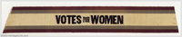 """Votes for Women"" grosgrain sash. This 4"" x 27"" sash has purple, gray and white stripes. The center..."