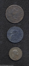 1723 FARTH Hibernia Farthing, DEI GRATIA XF40 Uncertified, Breen-172, a chocolate-brown piece with pleasing details and...
