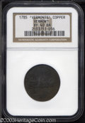 Colonials: , 1785 COPPER Vermont Copper, VERMONTS XF40 NGC. RR-2, ...