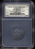 Colonials: , 1783 SHLNG Chalmers Shilling, Short Worm, XF40 Details, ...