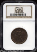 1850 1C MS67 Brown NGC. N-21, High R.2. A magnificently preserved Superb Gem of this relatively nondescript Newcomb vari...