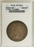 Early Half Dollars: , 1805/4 50C --Cleaned--ANACS. XF40 Details. O-101a, R.3. Asplendidly detailed deep brown-gray piece. A bit glossy from acle...