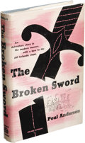 Books:First Editions, Poul Anderson: The Broken Sword. (New York: Abelard-Schuman,1954), first edition, 274 pages, blue cloth with black lett...