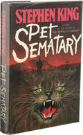 Books:First Editions, Stephen King: Pet Sematary. (New York: Doubleday &Company, Inc., 1983), first edition, 373 pages, dust jacket byLinda ...