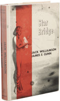 Books:First Editions, Jack Williamson and James E. Gunn: Star Bridge. (New York:Gnome Press, 1955), first edition, 221 pages, dust jacket by ...