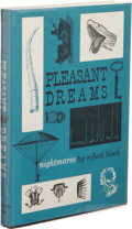 Books:First Editions, Robert Bloch: Pleasant Dreams --Nightmares. (SaukCity: Arkham House, 1960), first edition, 233 pages, dust jacketb...