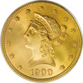 Liberty Eagles: , 1900 $10 MS66 PCGS. While the 1900 eagle is a common date, in Gem condition or finer it is quite rare, and this is the only...