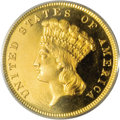 Proof Three Dollar Gold Pieces: , 1883 $3 PR66 Deep Cameo PCGS. This date is a well known rarity to collectors of three dollar gold pieces. Only 900 business...
