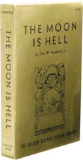 Books:First Editions, John W. Campbell, Jr.: The Moon is Hell. (Reading,Pennsylvania: Fantasy Press, 1951), first edition, 256 pages, giltpi...