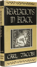 Books:First Editions, Carl Jacobi: Revelations in Black. (Sauk City: Arkham House,1947), first edition, 272 pages, black cloth with gilt lett...