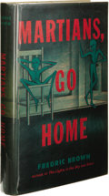 Books:First Editions, Fredric Brown: Martians, Go Home. (New York: E. P. Dutton& Company, Inc., 1955), first edition, 189 pages, bound inmot...
