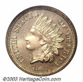Proof Indian Cents: , 1861 1C PR66 NGC. A well struck and beautifully preserved ...