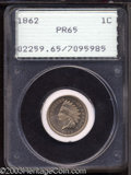 Proof Indian Cents: , 1862 1C PR65 PCGS. We do not know exactly why, but the ...