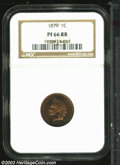 Proof Indian Cents: , 1879 1C PR66 Red and Brown NGC. Highly reflective and ...