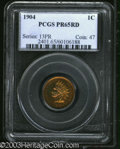 Proof Indian Cents: , 1904 1C PR65 Red PCGS. Peach and canary-gold colors endow ...