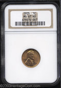 Lincoln Cents: , 1925 1C MS67 Red NGC. Sparkling reddish-gold brilliance ...