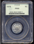 Proof Shield Nickels: , 1878 5C PR66 PCGS. A well struck and satiny Gem. The ...