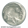 Buffalo Nickels: , 1914/3 5C MS64 PCGS. An earlier die state, this near-Gem ...
