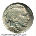 Proof Buffalo Nickels: , 1936 5C Type One--Satin Finish PR67 NGC. Pastel ruby-red, ...