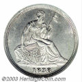 Seated Half Dimes: , 1838-O H10C No Stars MS64 NGC. By far the scarcer of two ...