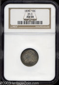 Bust Dimes: , 1836 10C AU58 NGC. JR-3, R.3. Block 8 in date. The M in ...