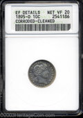 Barber Dimes: , 1895-O 10C --Corroded, Cleaned--ANACS. XF Details, Net VF20.