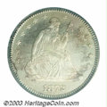Seated Quarters: , 1872 25C MS64 PCGS. A very flashy and highly reflective ...