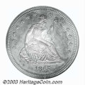 Proof Seated Quarters: , 1865 25C PR66 NGC. A difficult date to locate in business ...